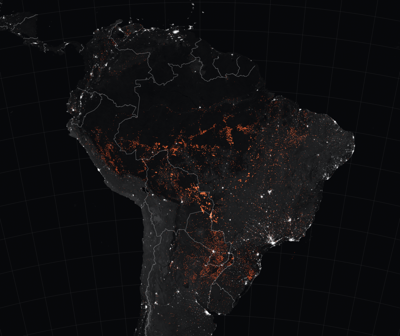 Amazon forest fire detections