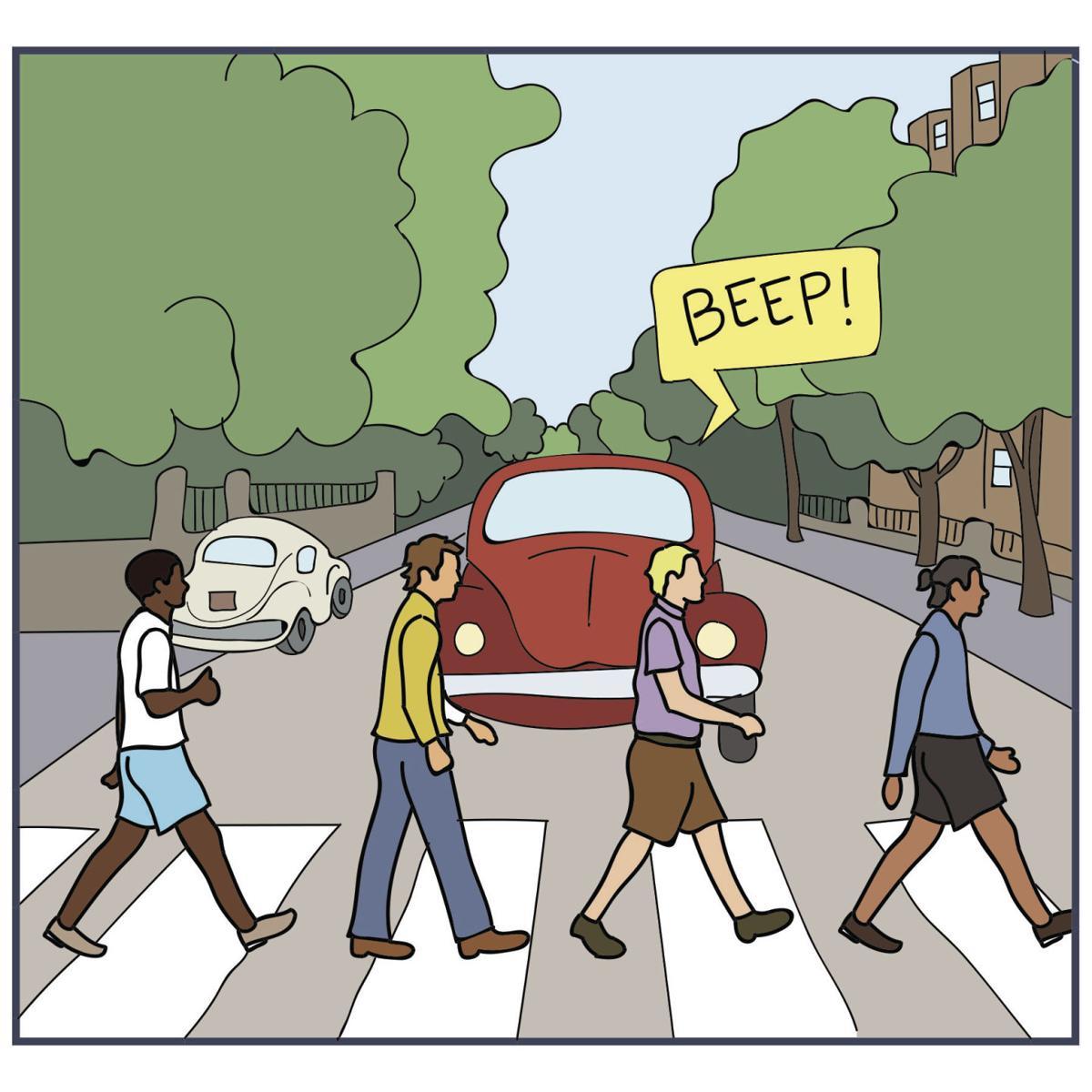 Cartoon: Pedestrian city | | lsureveille.com