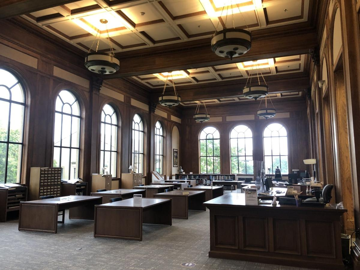The Reading Room at Hill Memorial Library