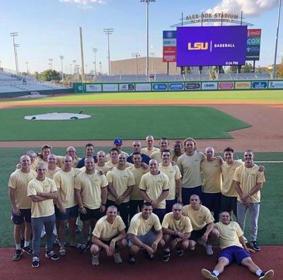Baseball Players Childhood Cancer Awareness Month