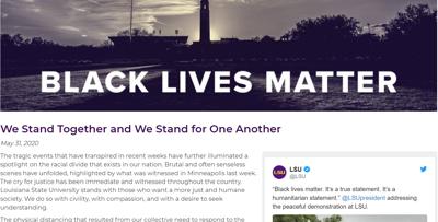 'LSU Together' letter