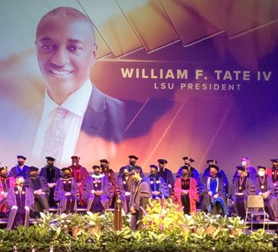 President Tate speaks at the Presidential Investiture ceremony