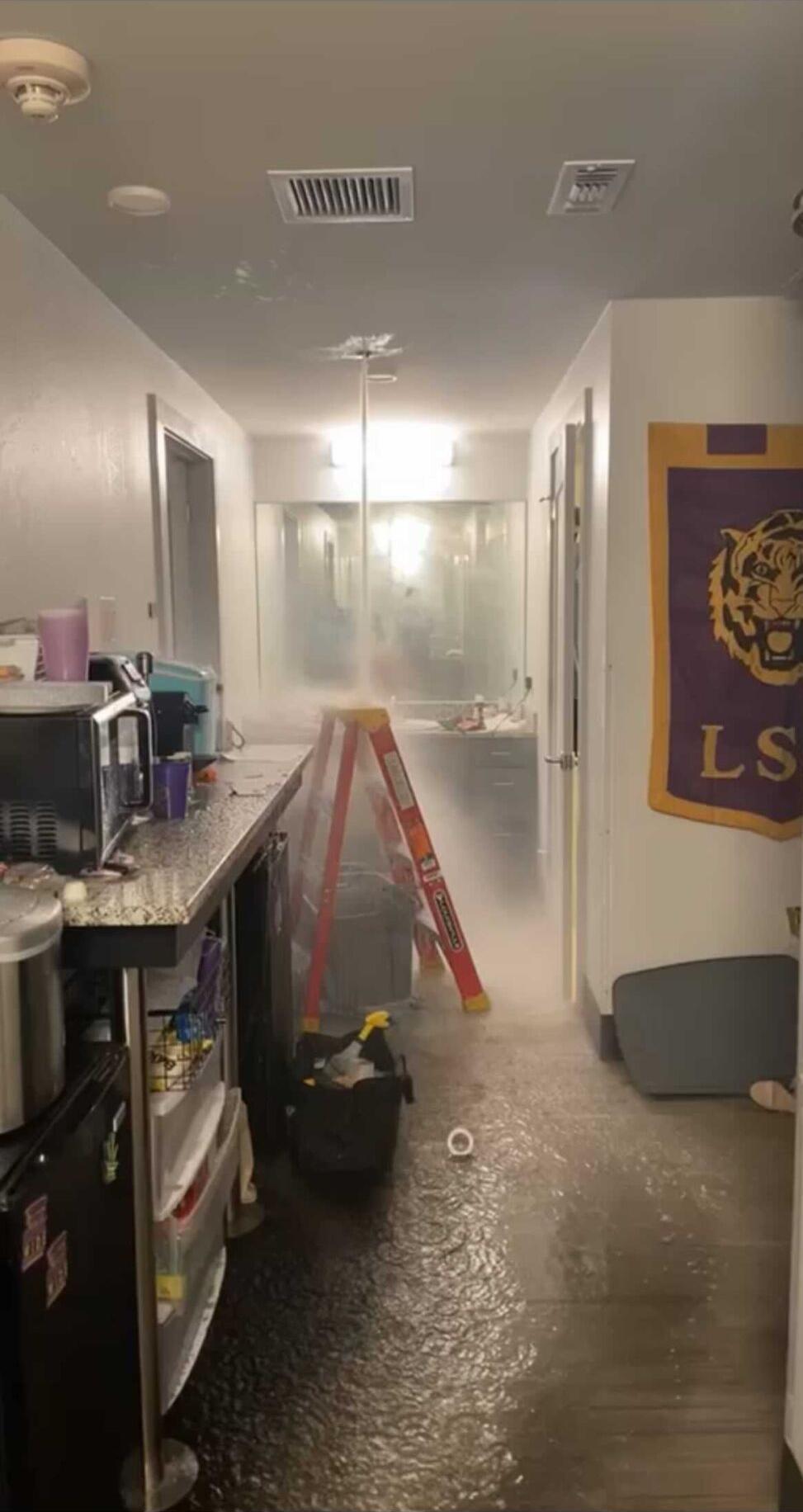 flooding in cedar hall
