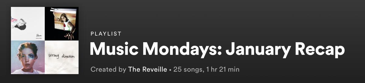 music mondays jan