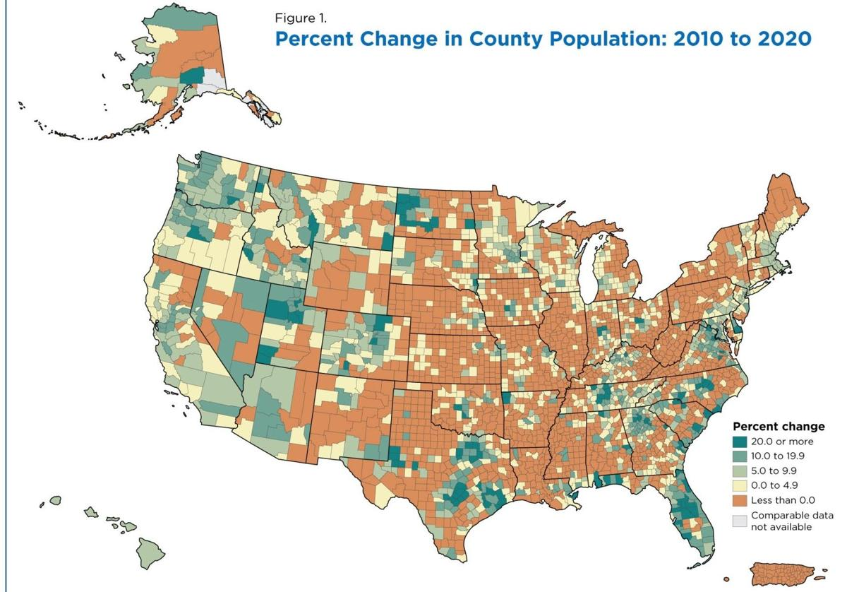 RURAL-URBAN change by county