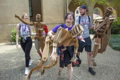 PHOTOS: Architecture students create cardboard clones, placed in Atkinson Hall