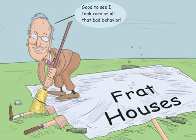 LSU President F. King Alexander sweeping Greek Life tailgating issues under the proverbial rug