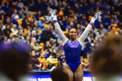LSU Gymnastics defeats Arkansas