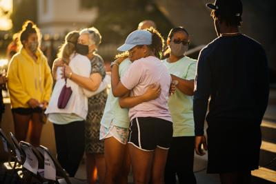 PHOTOS: Family and friends of missing LSU freshman Kori Gauthier gather for candlelight prayer vigil