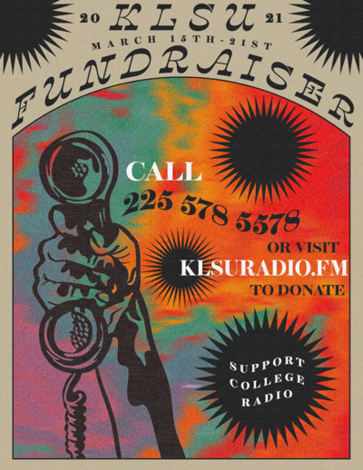 KLSU Fundraiser Graphic by Amelie Smith