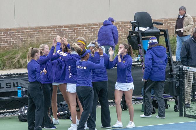 3.31.2019 LSU women's tennis vs south carolina