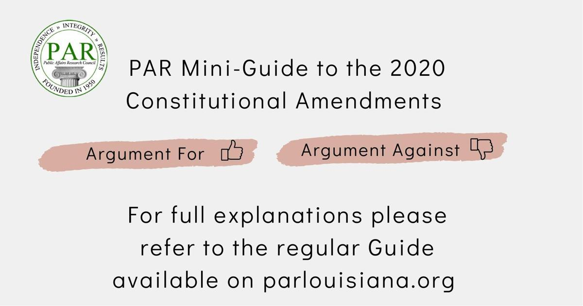 PAR LA amendment guide
