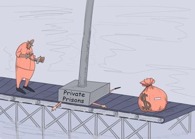 Private Prison Cartoon