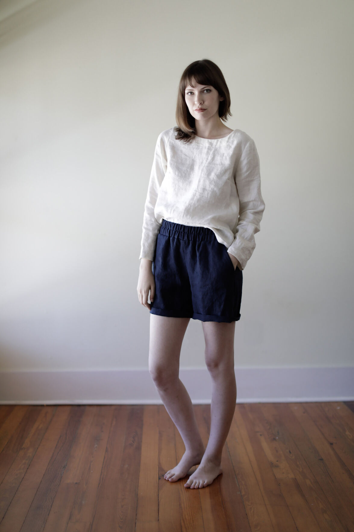 Linen shorts from The Maybe Collection
