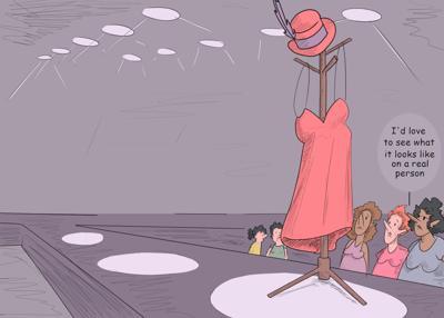 fashion show cartoon