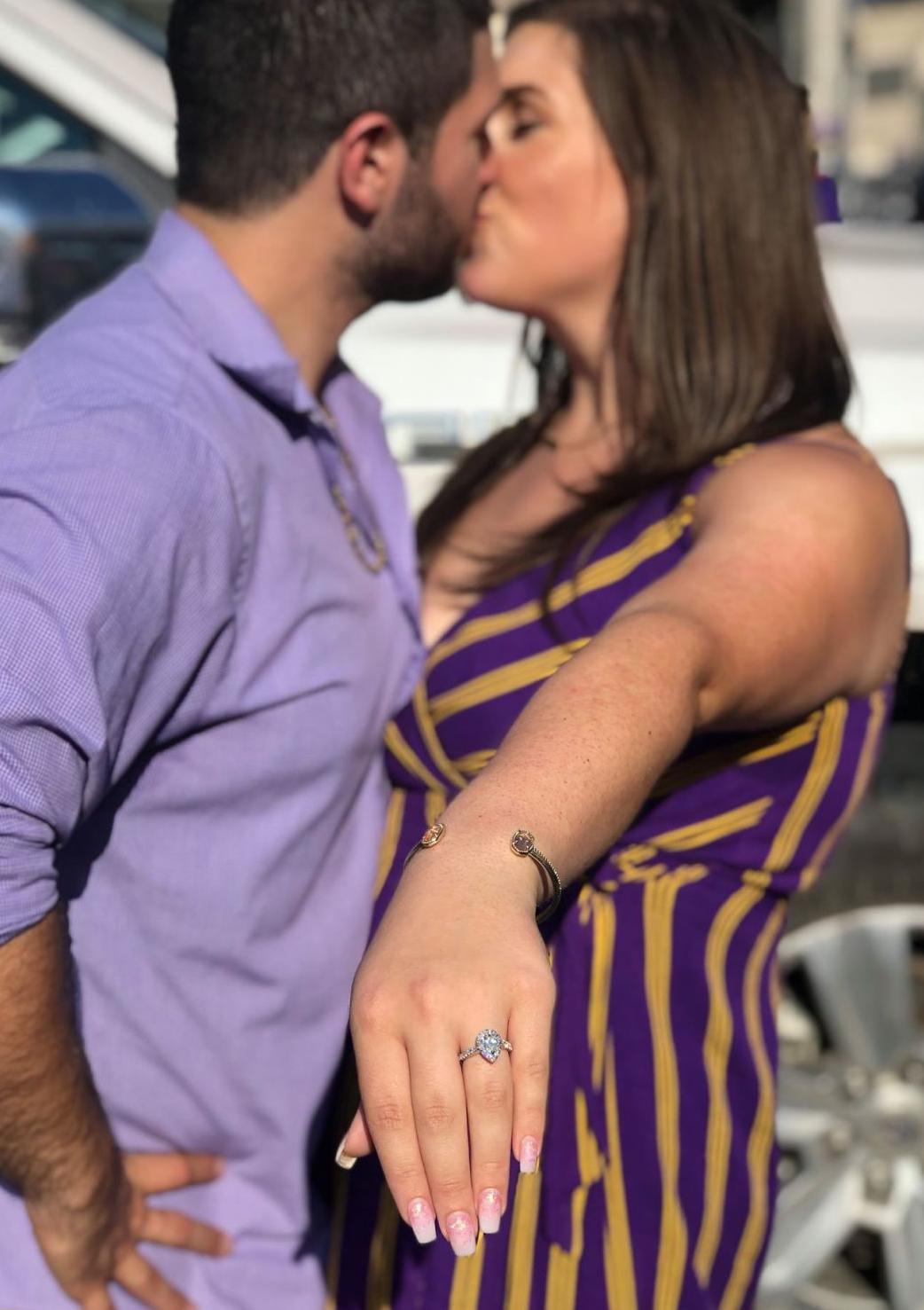 Marriage Proposal at LSU-Texas Game
