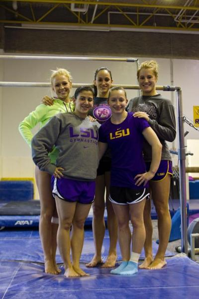 squad tallest features Gymnastics:  2011 gymnasts LSU