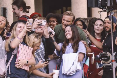 "PHOTOS: ""Swing"" movie starring Charles Melton and Alexander Ludwig comes to LSU"