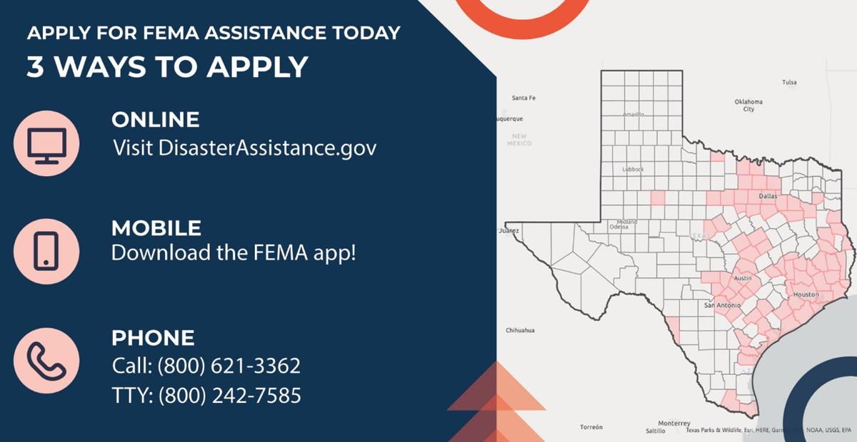 Apply for FEMA assistance (Source: FEMA)