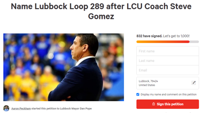 Steve Gomez Loop Petition