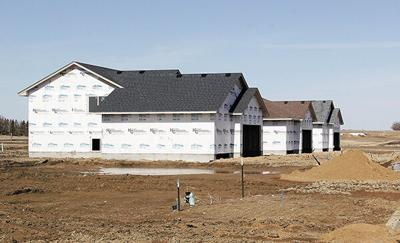 New home construction under way at Cyber Estates