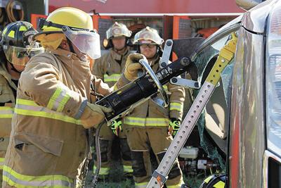 First responders brave the heat to hone skills