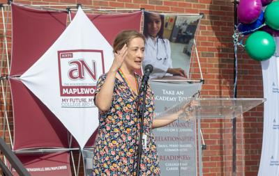 District 3 Metro school board member Emily Masters at Maplewood clinic celebration