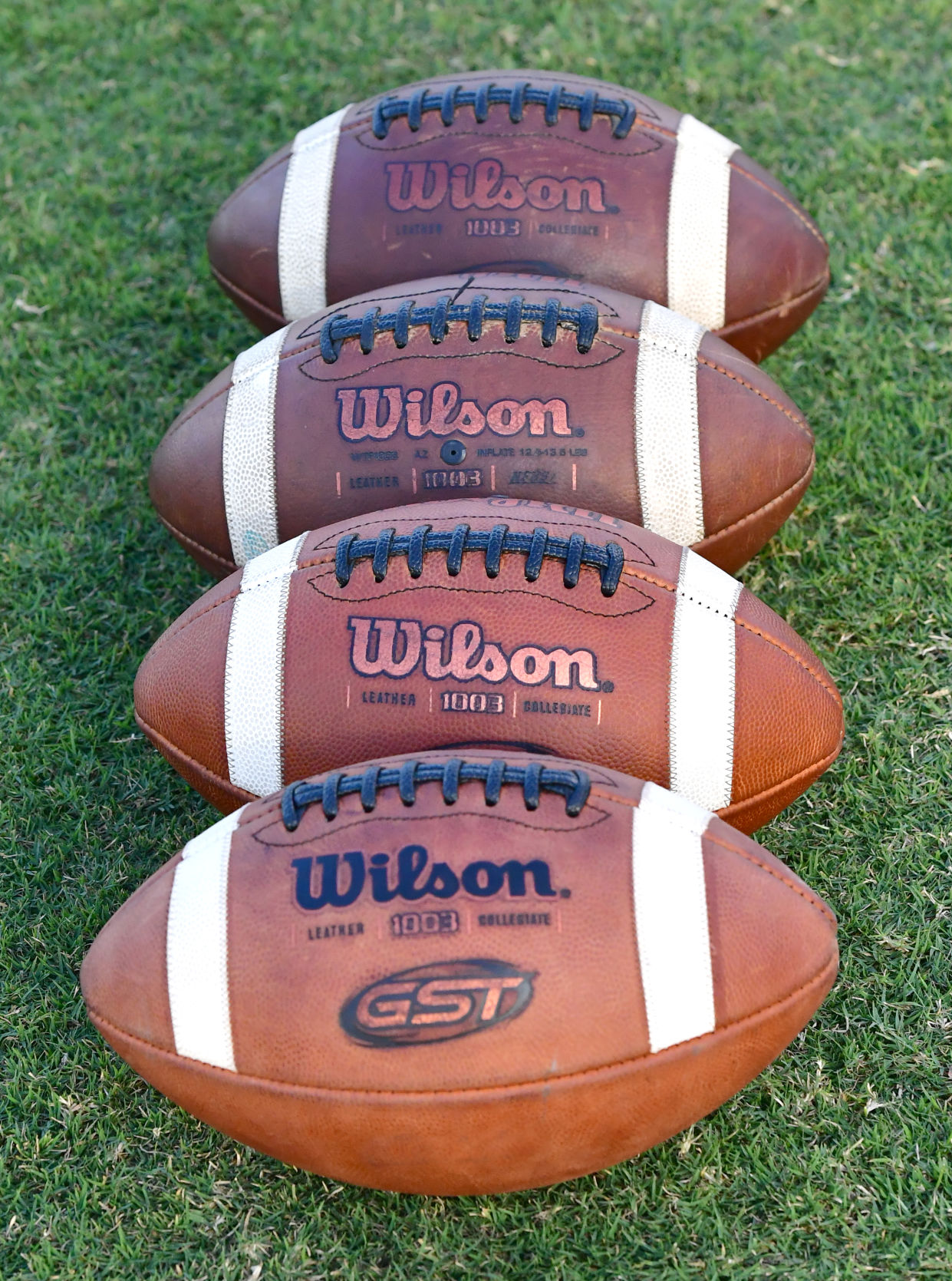 Wilson GST Leather Game Football Series