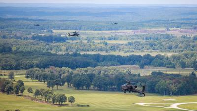 101st Combat Aviation Brigade executes live fire of Hellfire missiles on post