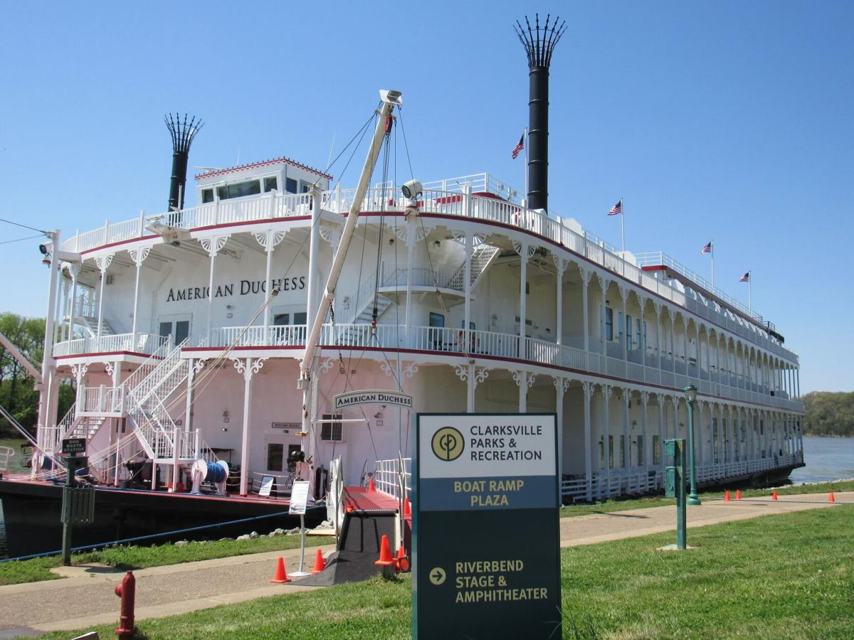 Riverboat docks on Cumberland River in Clarksville