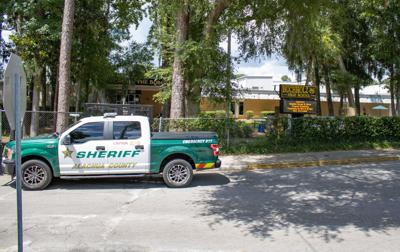 ACSO truck in front of Buchholz High School