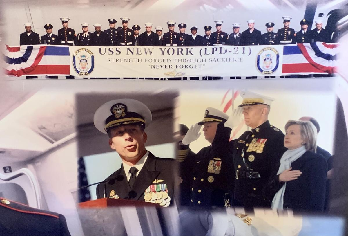 Hillary Clinton and other dignitaries participate in USS New York commissioning