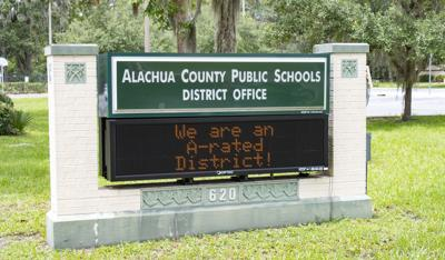 Alachua County Public School district office sign