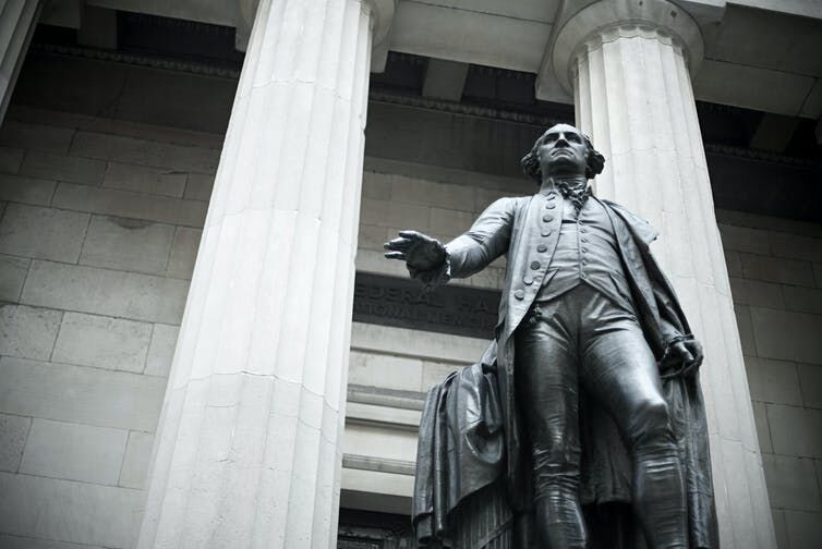 President George Washington aimed to unify the country with his first Thanksgiving message. Getty Images