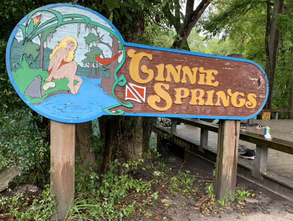 Ginnie Springs sign