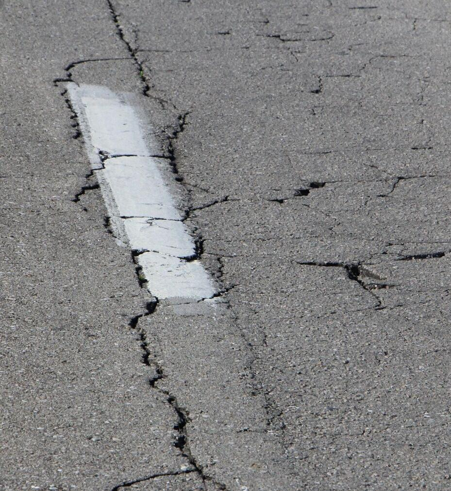CR 337 showing pavement cracking