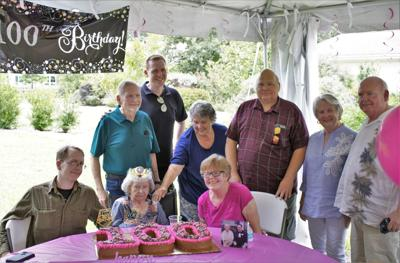Helen Blanchard birthday party with family