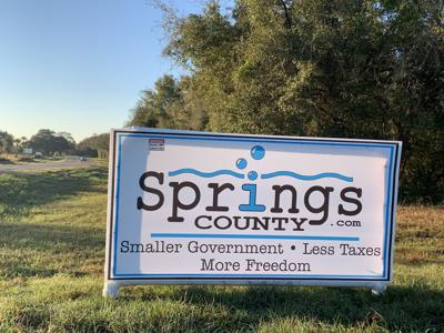 Springs County sign