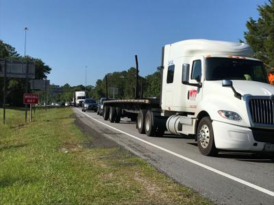 Trucks backed up due to interstate 75 accident