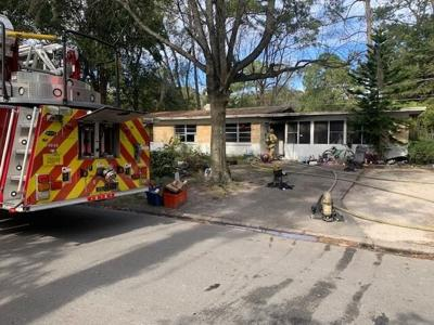 Local Gainesville Home that caught on fire
