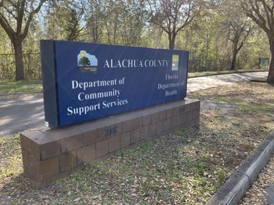 Florida Department of Health in Alachua County sign