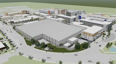 Rendering of the future sports complex in Alachua County