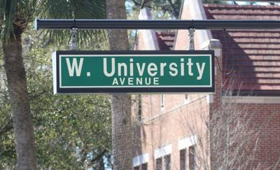 West University Avenue sign in Gainesville