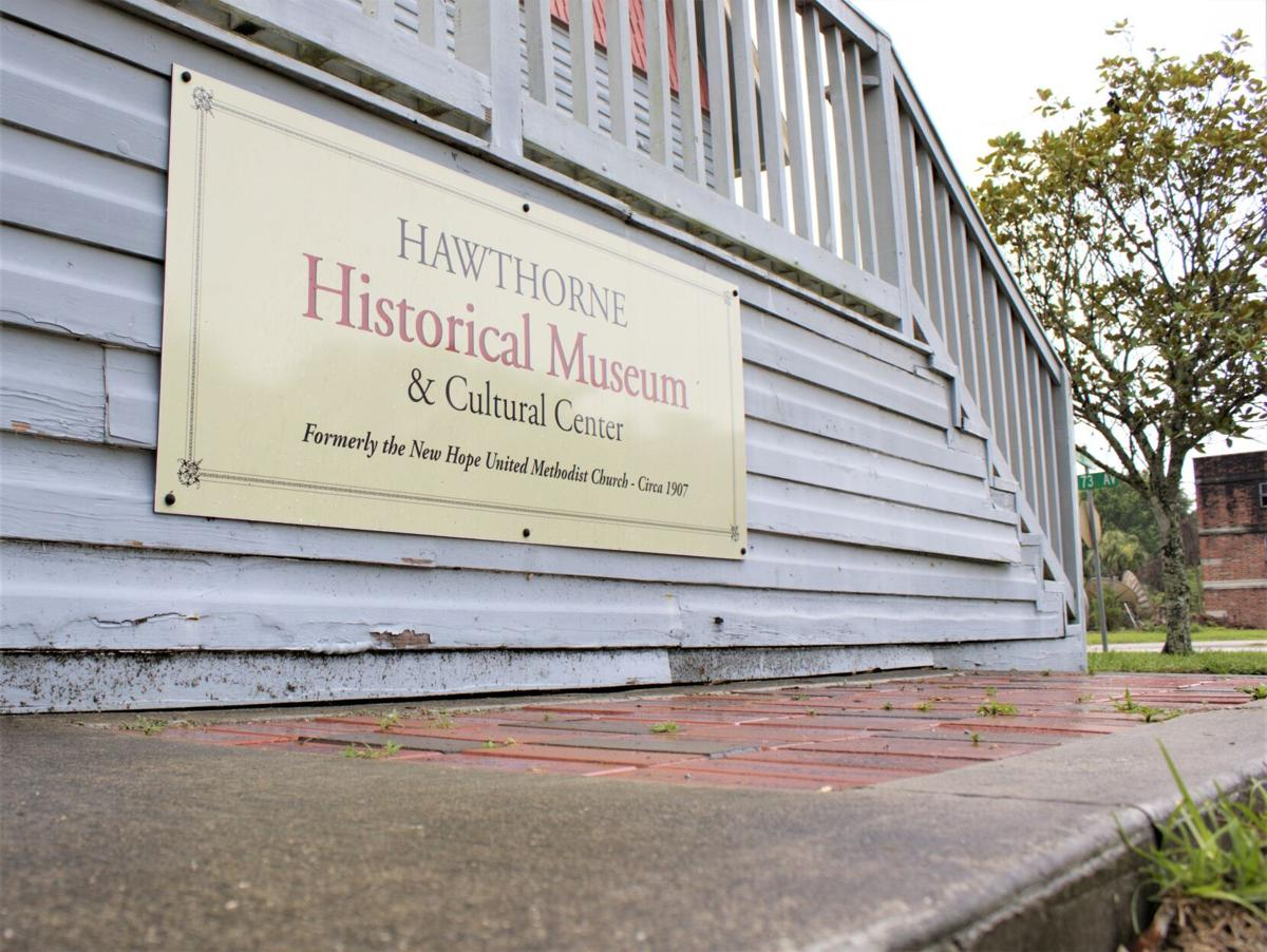 Sidewalk at Hawthorne Historical Museum and Cultural Center
