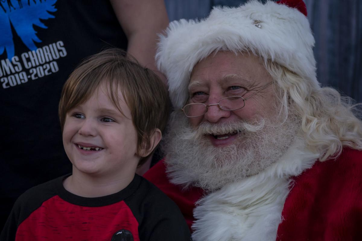 All smiles with Santa