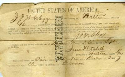Civil war document