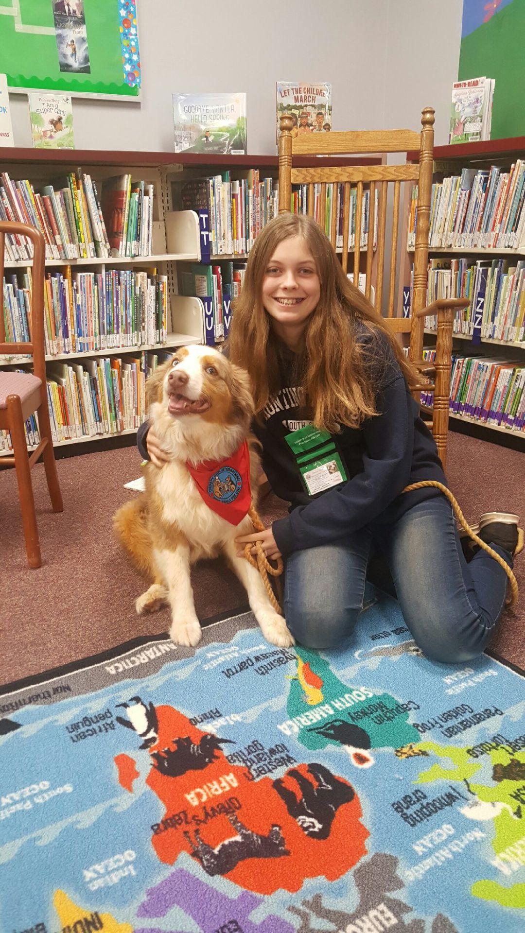 Bandit visits Nicholson library