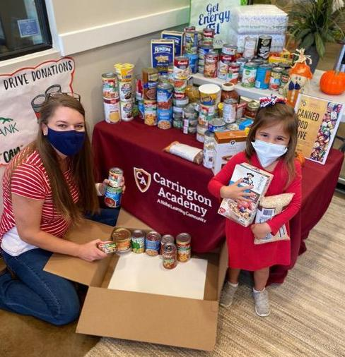 Local students donate to food bank