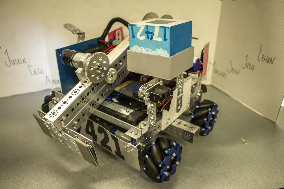 EJCHS students build robot for regional competition