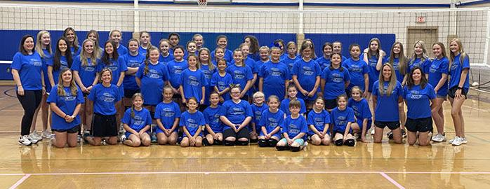 RECORD ATTENDANCE AT VOLLEYBALL CAMP